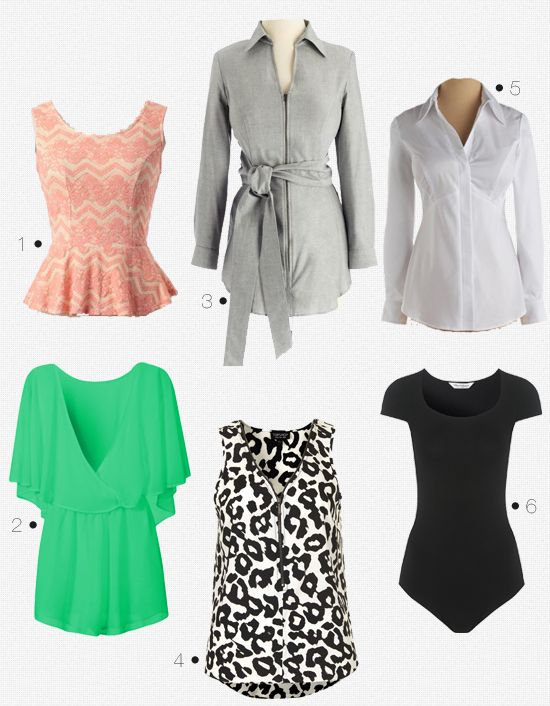 How to dress for a big bust.  Good Article.