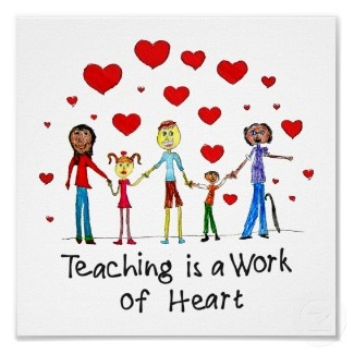 Teaching is a Work of Heart Square Poster print: Inspiration Teacher, Teacher Appreciation, Heart, Teaching Quotes, Picture-Black Posters, Thumb Prints, Posters Prints, Teacher Quotes, Mean Quotes