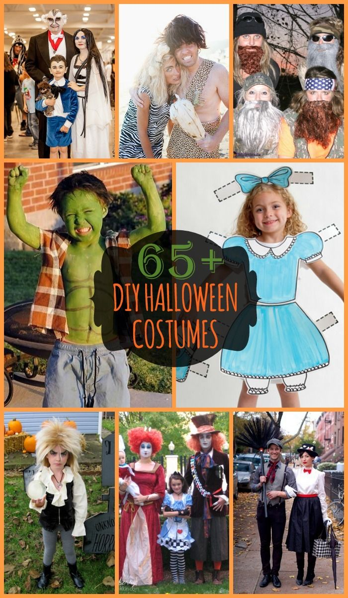 65+ DIY Halloween Costume Ideas for You, the family or the kids! { lilluna.com } #halloween #costumes