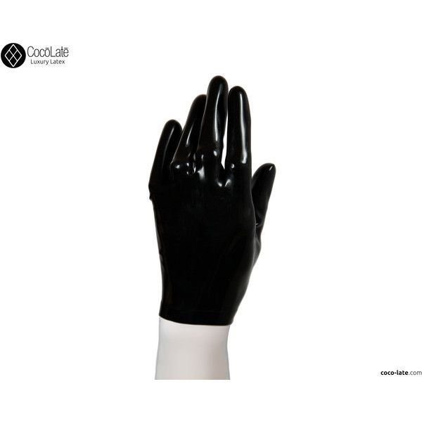 Latex Short Gloves - Black color ($40) ❤ liked on Polyvore featuring accessories, gloves, latex gloves and short gloves