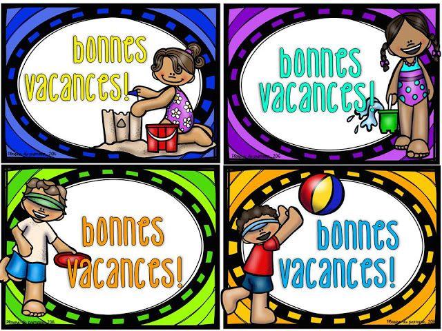Cartes postales estivales - Plaisirs du primaire