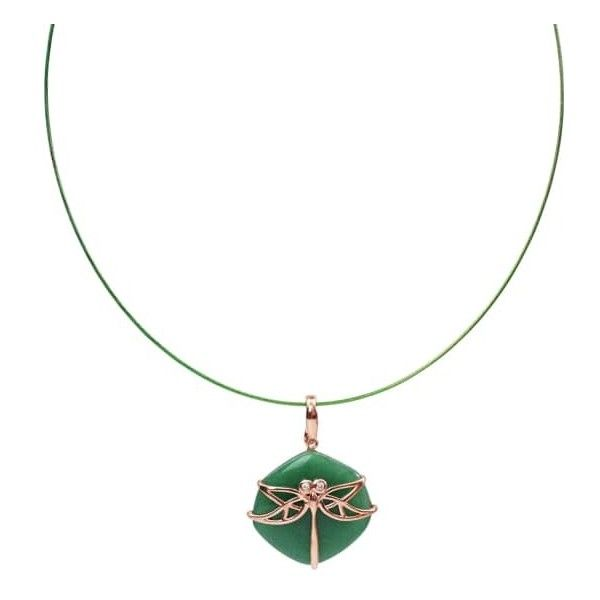 Bellus Domina - Aventurine Dragonfly Necklace ($63) ❤ liked on Polyvore featuring jewelry, necklaces, green aventurine jewelry, dragonfly jewellery, oxidized jewellery, animal print necklace and green necklaces