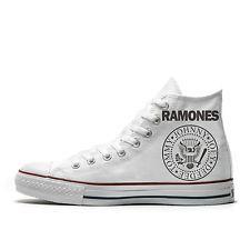 Converse AllStar scarpe personalizzate logo Ramones