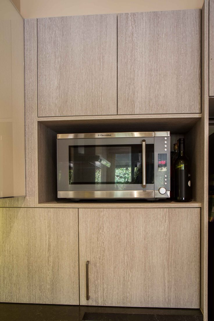 Appliance pantry. Modern kitchen. Laminate doors. www.thekitchendesigncentre.com.au