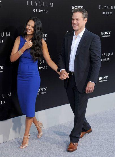 Matt Damon and Luciana Damon at His Elysium Premiere in LA