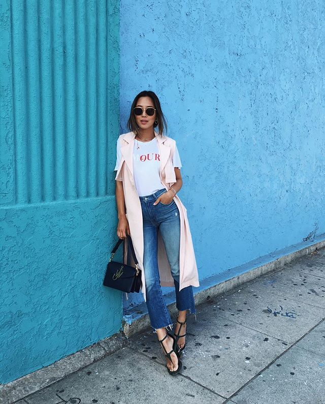 Pin for Later: 9 Stylish Fashion Bloggers Who Were Born and Raised in California Song of Style Who She Is: Aimee Song Where She's From: Los Angeles Her Typical #OOTD: Distressed denim, standout sandals, and impeccably layered tops.
