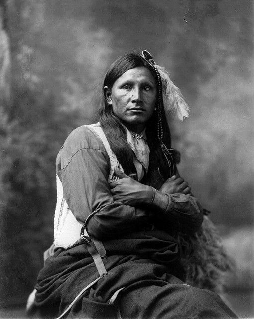 +~+~ Antique Photograph ~+~+    Ground Spider, Oglala Sioux, by Heyn Photo, 1899.