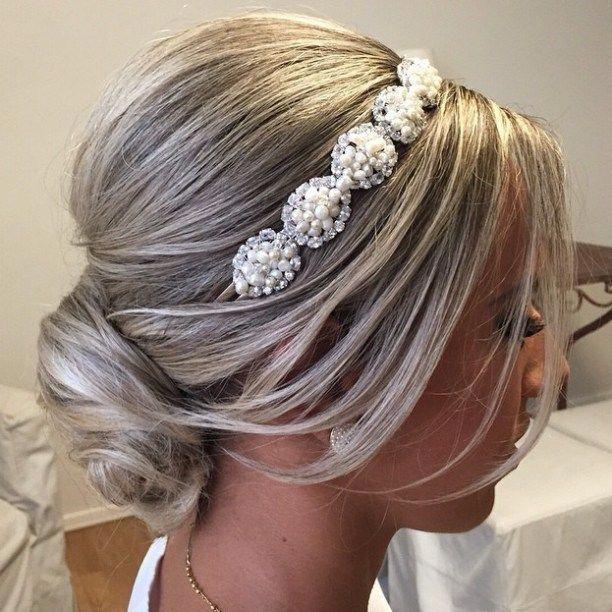 Bridal Bun For Shorter Hair #Shorthairbun – Short hair bun