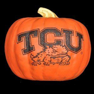 TCU Horned Frogs Resin Pumpkin (Large) Cumberland Designs http://www.amazon.com/dp/B005IE7M9U/ref=cm_sw_r_pi_dp_emPrub0D5XEC3