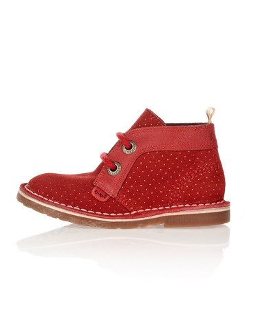 Take a look at this Red Suede Adlar Boots - Infant, Toddler & Boys by Kickers on #zulily today!