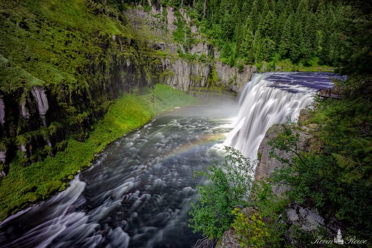 Mesa Falls, Idaho. This waterfall is located between Island Park and Ashton Idaho. Located on the Henry's Fork of the Snake River. This Beautiful waterfall is a spectacular scene and can be viewed from a short walk.