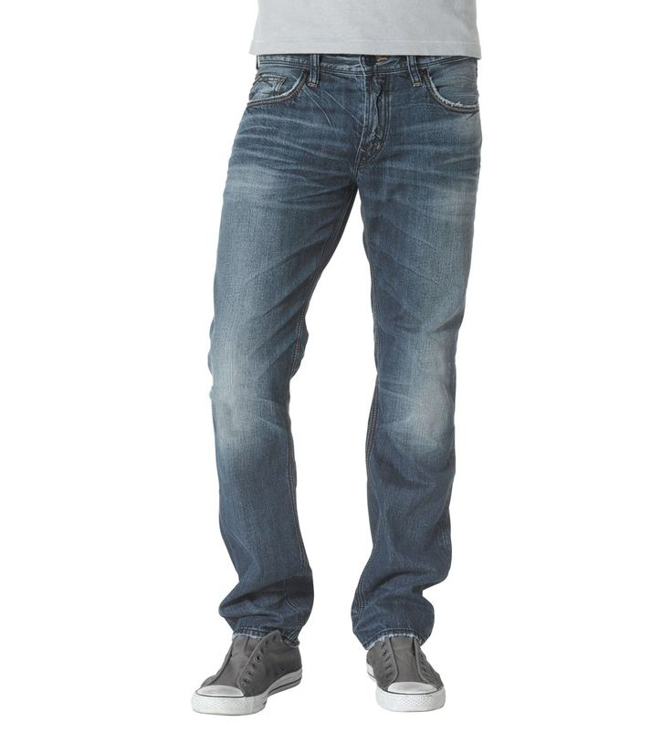 Allan mens jeans with a classic fit and slim leg #silverjeans