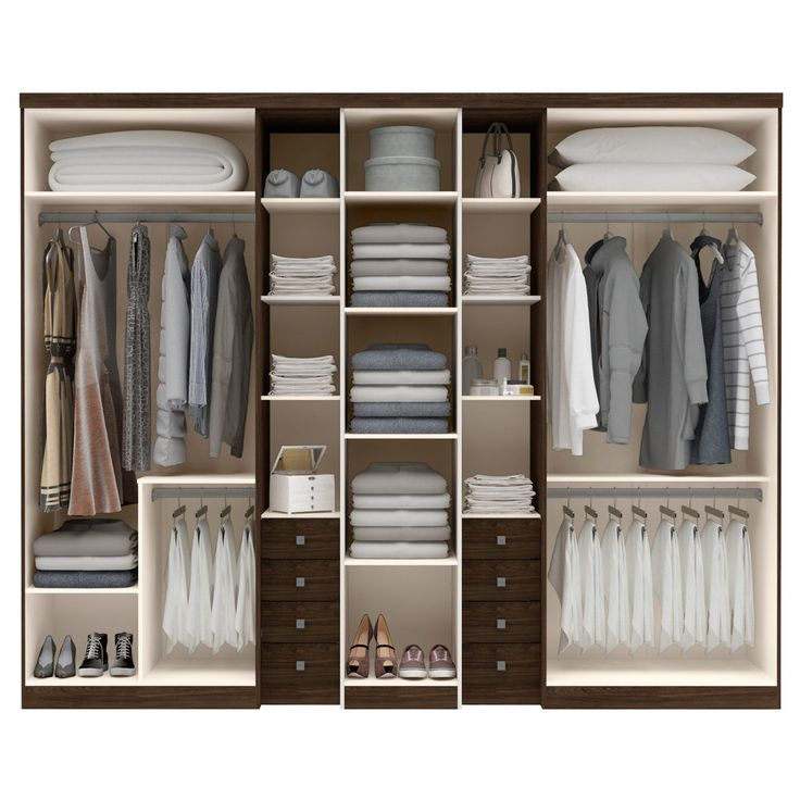 Layout for wardrobe