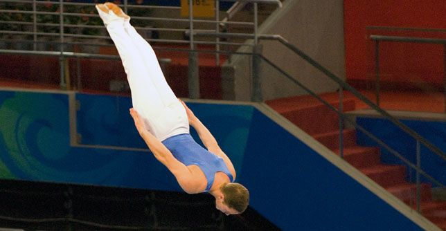 Want to know what it feels like to fly? Here's your ticket: Olympic trampoline, a gymnastics... http://greatist.com/fitness/15-things-you-didnt-know-about-olympic-trampoline