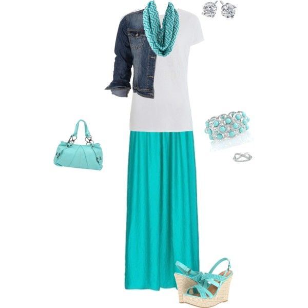 """Aqua Outfit"" by isongirls on Polyvore"