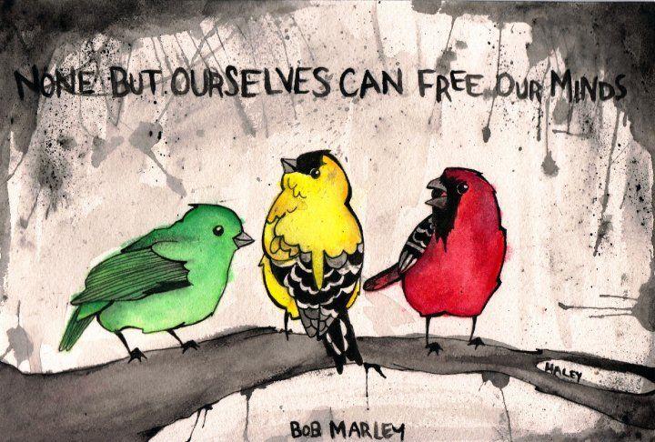 bob marley three little birds tattoo | little birds by ~sprinklexeater on deviantART