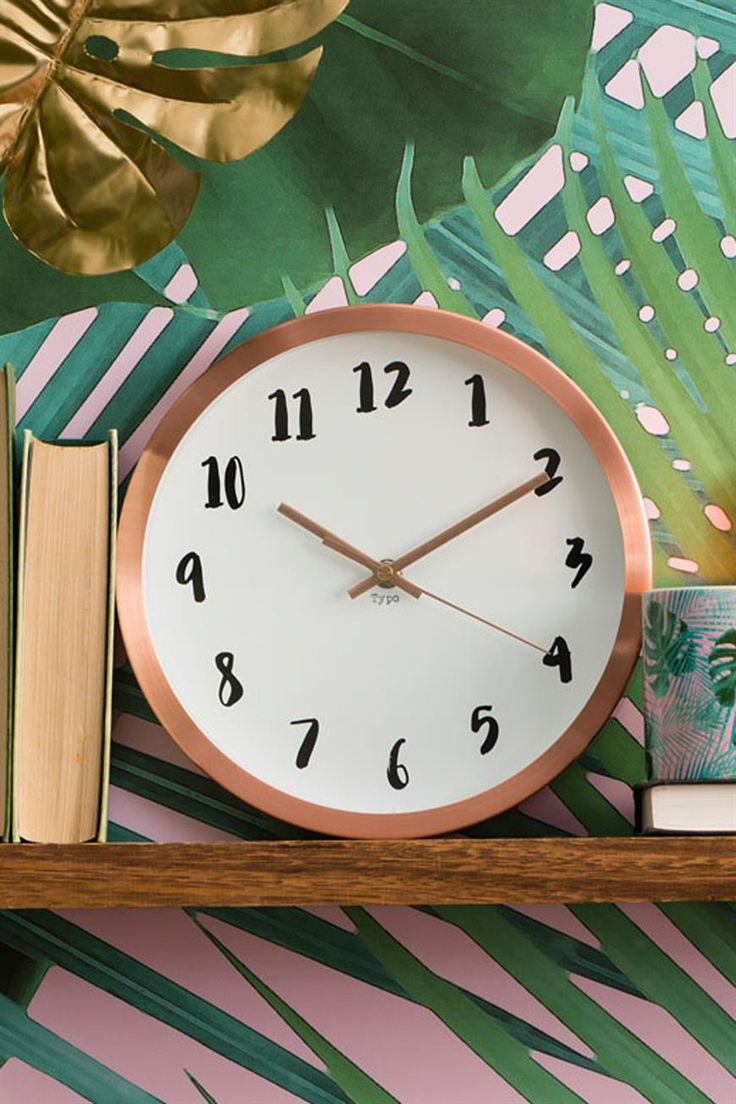 Time's a ticken! <br> Our very own printed wall clocks with prints you'll love designed in house. <br> Requires 1 x 1.5V AA Battery. Battery is not included. <br> Dimensions: 25.5 cm Diameter. <br> Care Instructions: Clean clock with clean dry cloth only. <br/>