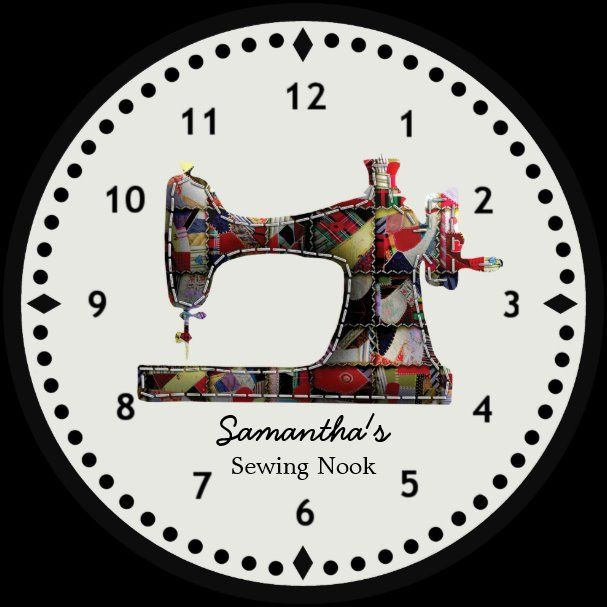 Patchwork Quilt Sewing Machine Wall Clock Zazzle Com Patchwork Quilt Sewing Machine Wall Clock Zaz In 2020 Sewing Machine Quilting Vintage Sewing Rooms Quilt Sewing