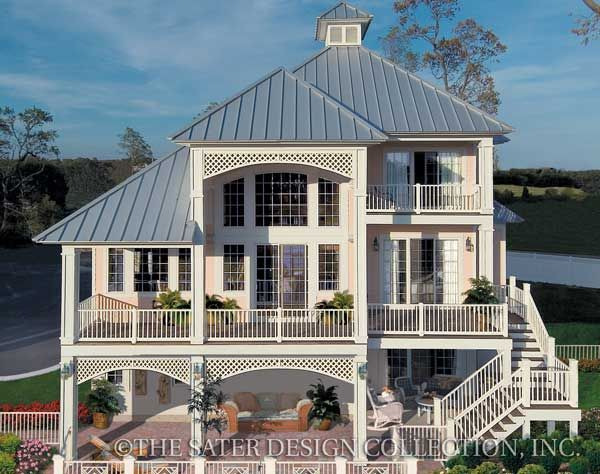 93 best cottage house plans the sater design collection for Luxury bungalow house plans