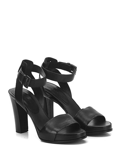 4ever young Donna Chunky Sandali Nero Cuoio Strap-UK 6