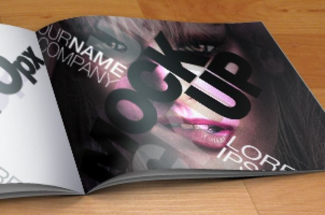 A psd mock-up catalog template,  ideal to   present your final design to clients or  for your portfolio....