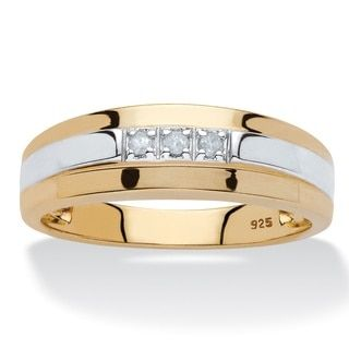 14k white gold mens 25ct tdw diamond wedding band overstock jewelry18k goldrings - Overstock Wedding Rings