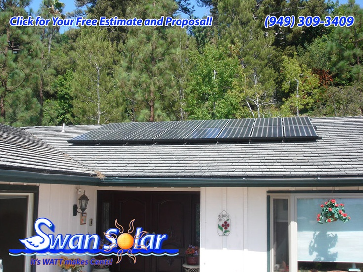 ... CA This Solar Photovoltaic System Has 22 Solar Panels With A 5000 Watt  Inverter. The Panels Are Installed On South West Facing Roof. It Measures  295.02 ...
