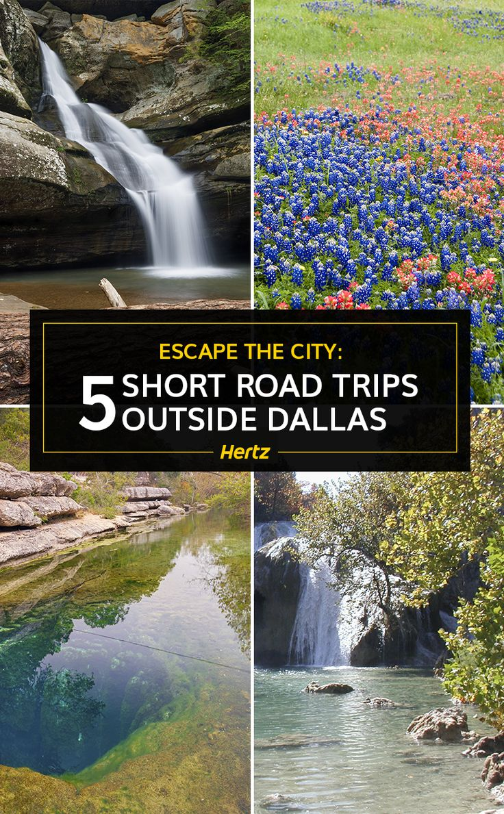 Consider these five short jaunts that start in Dallas and end at picturesque parks, water recreation spots, historical sites, and even a fossil digging site.