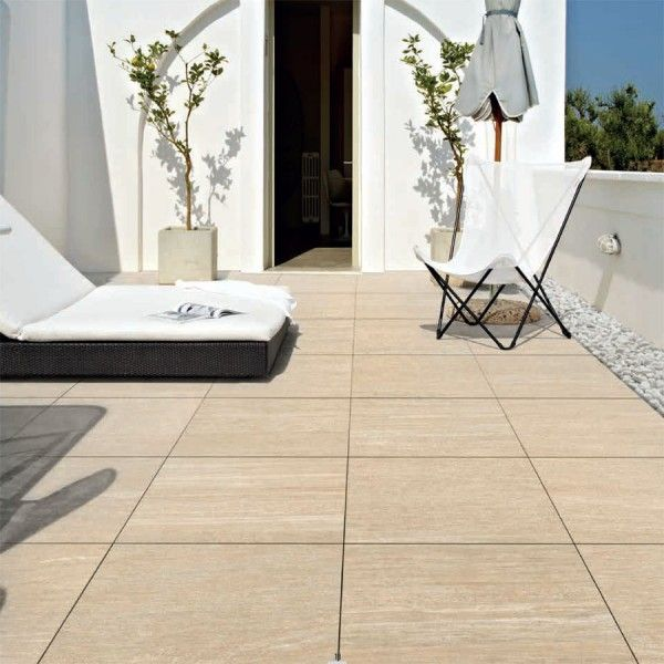 Patio  featuring Vesuvius Dark Beige italian porcelain pavers   warm color  tones in an innovative11 best Great Outdoor Spaces images on Pinterest   Outdoor spaces  . Exterior Porcelain Pavers. Home Design Ideas