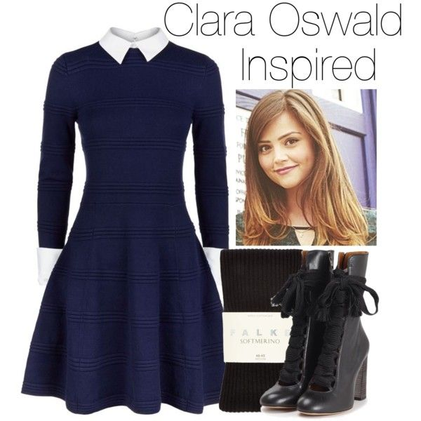 Clara Oswald by captainamericafan on Polyvore featuring polyvore, fashion, style, Alice + Olivia, Falke, Chloé and Coleman