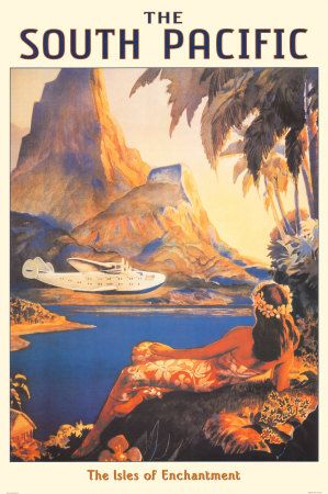 Vintage Travel Poster, The South Pacific