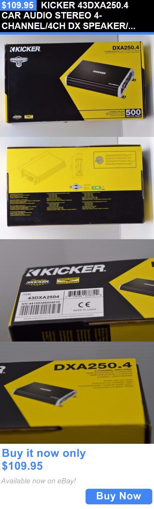 Car Amplifiers: Kicker 43Dxa250.4 Car Audio Stereo 4-Channel/4Ch Dx Speaker/Subwoofer Amplifier BUY IT NOW ONLY: $109.95