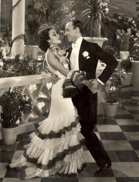 """Dolores Del Rio dances with Fred Astaire in """"Flying Down to Rio"""", 1933"""