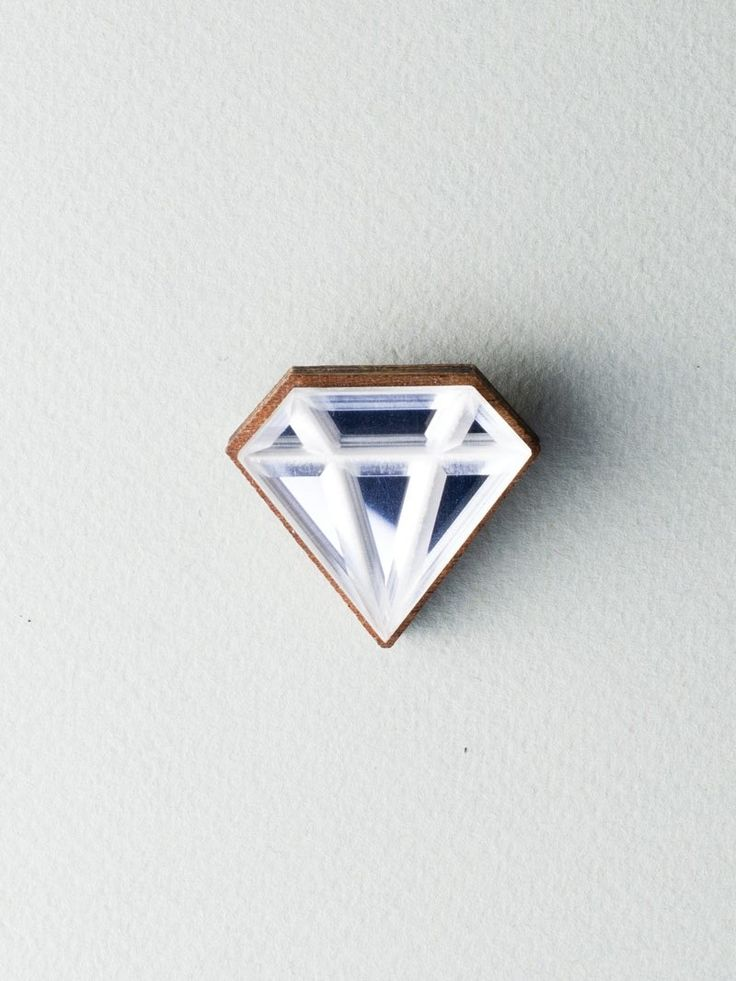 Mirror Diamond Brooch #jewelry #design #brooch