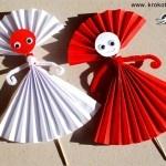 3 идеи от нагъната хартия за Баба Марта: Kiddie Crafts, The Faces, Kids Crafts, Easy Paper Dolls, Art Papell, Baba Marta, Paper Puppets, Paper Ideas, Paper Crafts