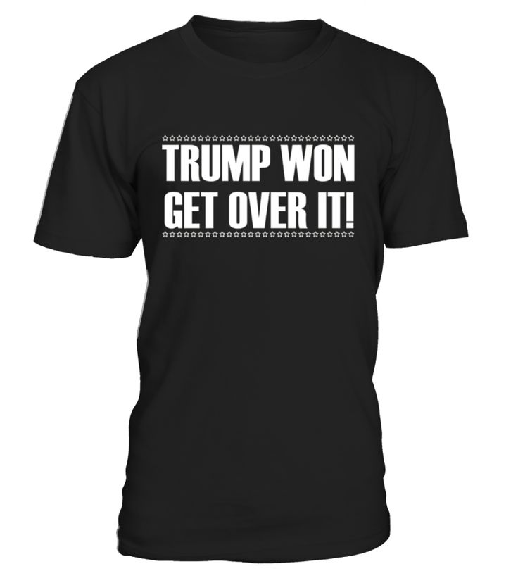 Trump Won Get Over It T-Shirt   Are you tired about people complaining against Trump because they lost? If so, then the Trump Won Get Over It T-Shirt is perfect for you. Support Trump and the POTUS to make a better America!   By wearing this proud Republican shirt, you are showing that you love America and are a proud Republican. Wear it with pride!      TIP: If you buy 2 or more (hint: make a gift for someone or team up) you'll save quite a lot on shipping.        Guaranteed safe and se...