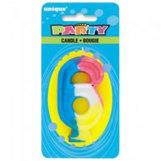 Rainbow 6 Candles, Party Decorations at Discount Party Supplies