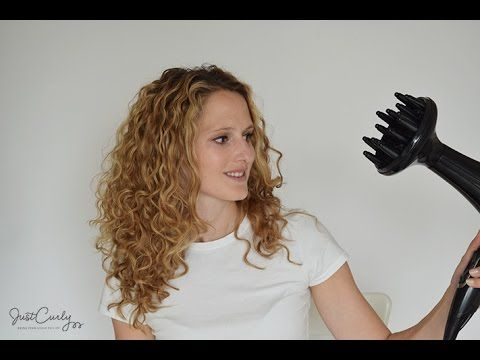 How to blow-dry curly hair using a diffuser - JustCurly.com