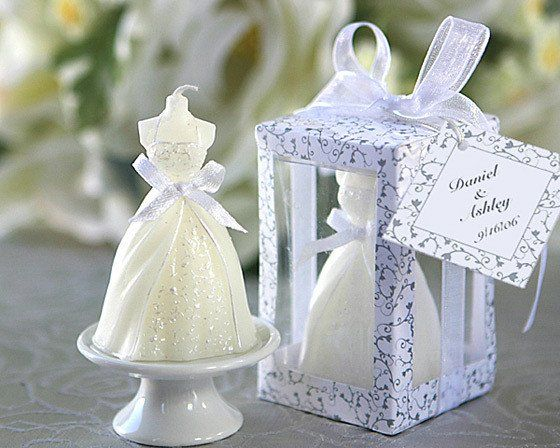 Elegant-Wedding-Gown-Candles-wedding-gifts-souvenirs