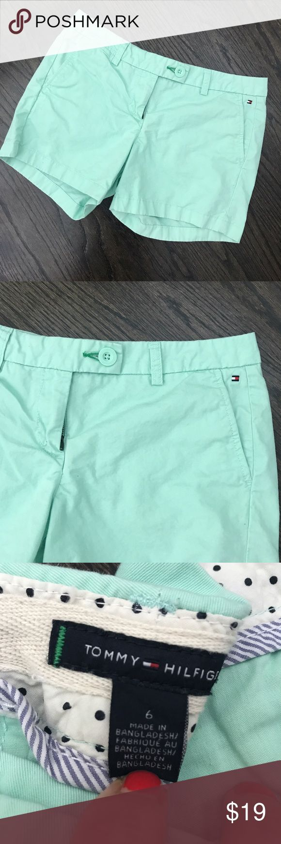 "Tommy Hilfiger Mint Green Shorts Tommy Hilfiger mint green shorts. 4.25"" inseam. Size 6. Tommy Hilfiger Shorts"