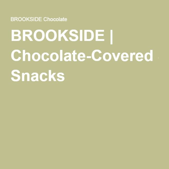 BROOKSIDE | Chocolate-Covered Snacks