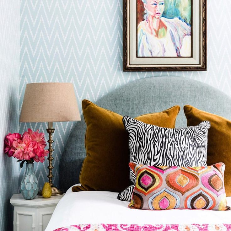"""125 Likes, 11 Comments - Lisa Burdus (@lisaburdus) on Instagram: """"Colour and pattern in this young ladies bedroom .. I look forward to seeing it soon in…"""""""