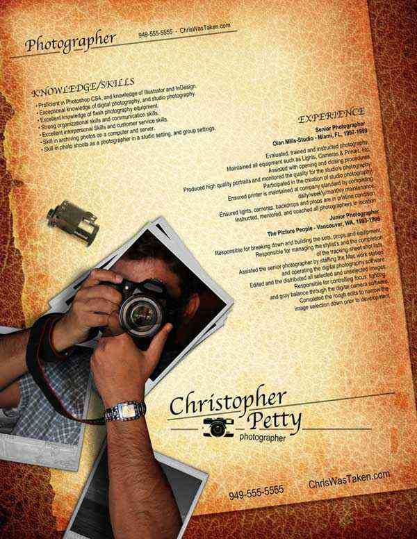 resume photographer by rkaponm - Photographer Resume