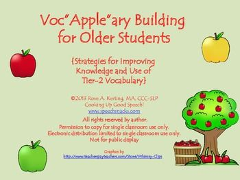 Vocabulary Building for Older Students {Strategies for Improving Knowledge and Use of Tier-2 Vocabulary}