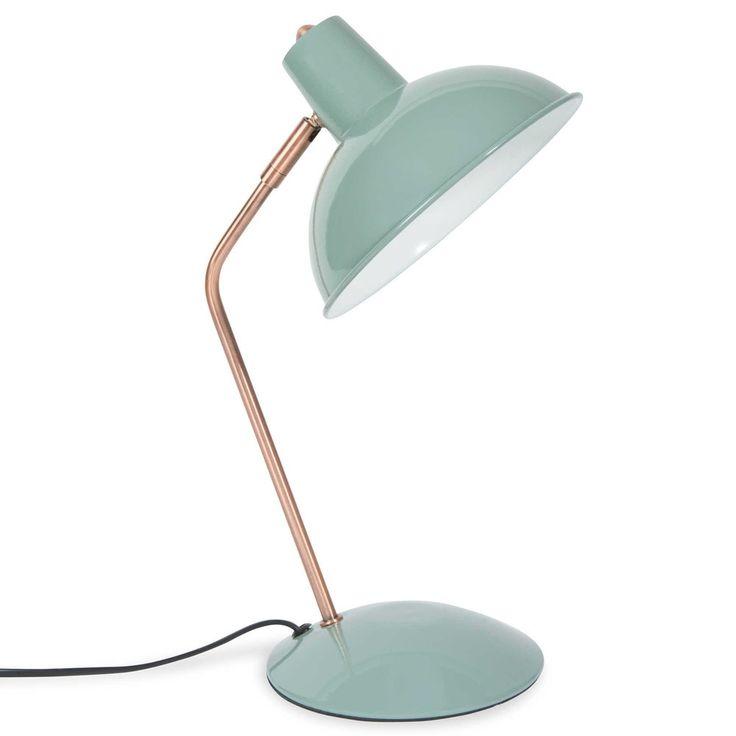 Schreibtischlampe aus Metall, blau, H 36 cm, IMANY