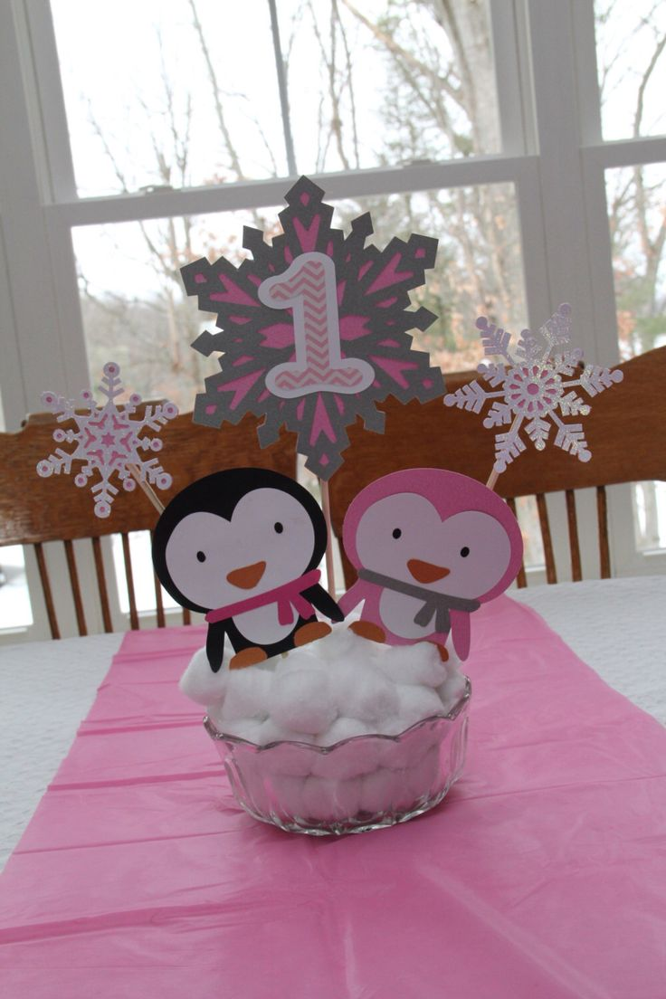 Winter ONEderland Penguin Centerpiece By DesignsbyKateMarie On Etsy  Https://www.etsy.