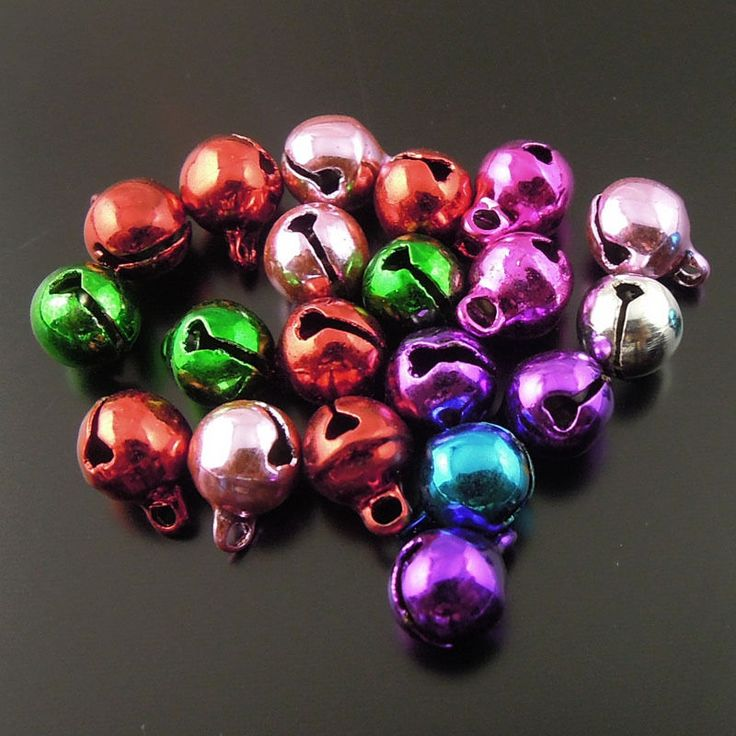 6mm Assorted Color Brass Metal Jingle Bell Christmas Decoration Wholesale 60pcs #Lingyunlv #HolidayFashion