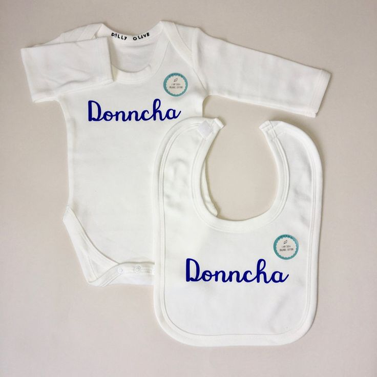 146 best personalised new baby gifts images on pinterest baby baby long sleeve vest and bib gift set personalised baby gift negle