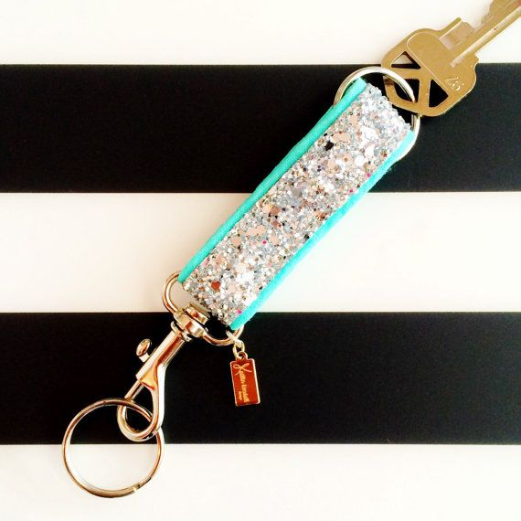 The Glitter Key Fob PREORDER by kaitlinkendalldesign on Etsy