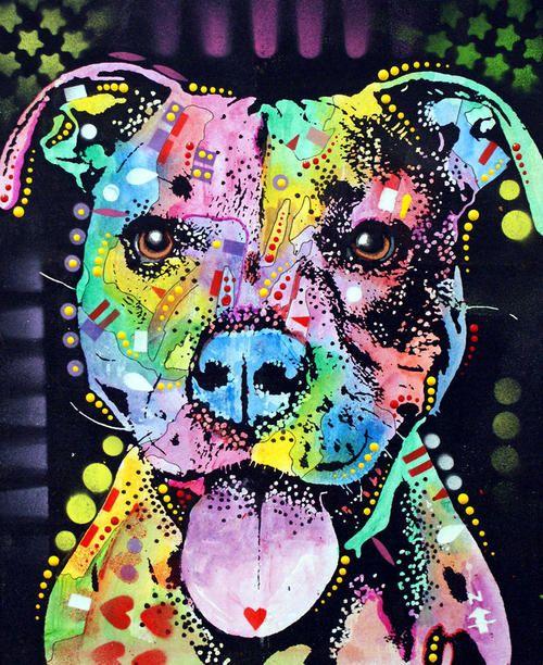 Pitbull Love...Dean Russo Art